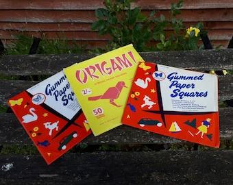 Vintage Gummed Paper and Origami Paper