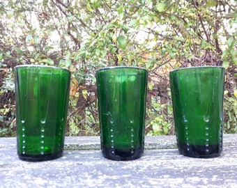 Heavy Green Drinking Glasses