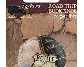 7Gypsies Road Trip Book Knob 1 PC