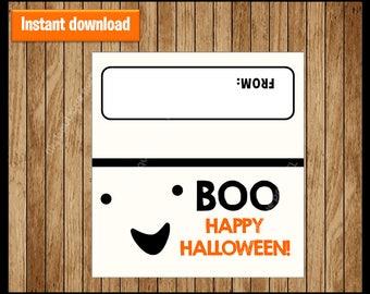 Boo Halloween Bag Toppers - Halloween Birthday Bag Toppers - Halloween Bag Labels - Halloween Treat Bags - Printable Halloween Treat tags