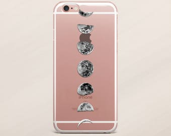 Moon Phase iPhone 7 Cover iPhone 6 Case Moon Cycle Case for Samsung Galaxy S7 Samsung Galaxy S8 Clear Case iPhone 6 Plus Case iPhone 5s Case