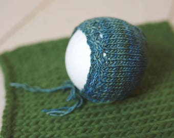 Soft knit baby bonnet