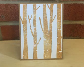 Birch Tree Card
