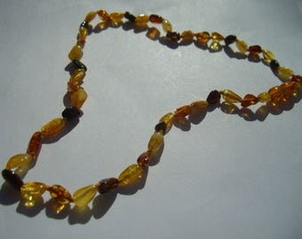 Amber necklace Baltic amber yellow