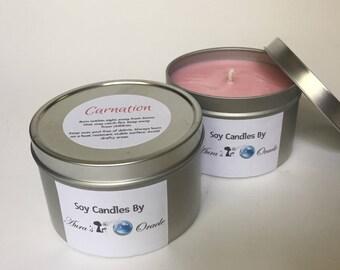 Carnation 8oz Soy Candle