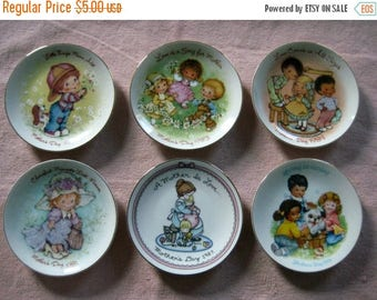 Christmas In July Sale Avon Mother's Day Collector Plates, Vintage 1980's, Six Available, Your Choice, Cherished Moments