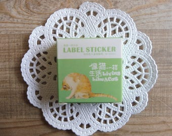 Stickers 40 piece set in assorted designs cats (33)