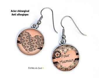 For MOM dissociated, heart earrings tone salmon hooks surgical steel anti-allergic