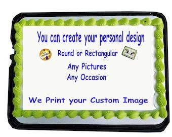 Edible Picture, Edible Print, Edible Image, Cake Decorator, Cake Topper