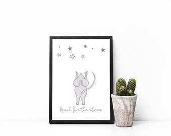 Nursery Prints Australia - Digital Download - Reach For The Stars