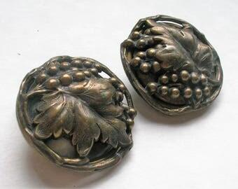 Vintage JAN MICHAELS Earrings // Large 1980s Clip Ons