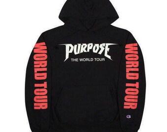 Justin Bieber Purpose Tour Merch Champion Premium Hoodie Sweatshirt