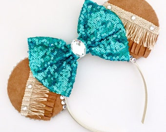 The Colours of the Wind - Handmade Pocahontas Inspired Mouse Ears Headband