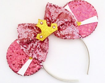 The Sleeping Princess - Handmade Mouse Ears Headband
