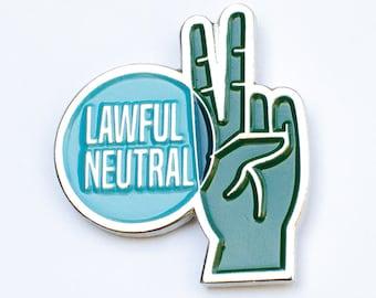 "Lawful Neutral RPG Alignment 1.25"" Enamel Pin"