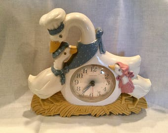 Retro Goose and goslings kitchen/home wall clock