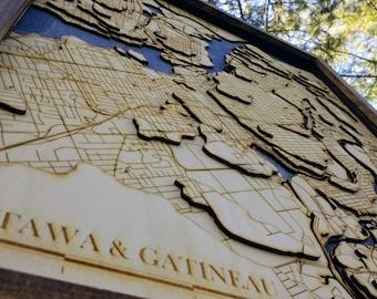 "Downtown Ottawa Map- 17""x23"""