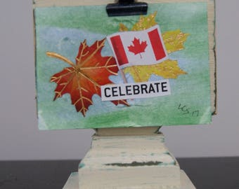 Celebrate Canada – Mixed Media - An ACEO Original