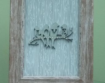 Love - Light Wood Frame