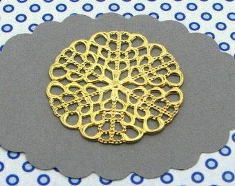6 charms Golden rosettes BG30 prints