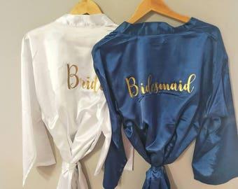 Bridal Party Robes, bridesmaid robes, bridal party gift robes, personalized bridesmaid robe, Bridal Party gifts