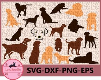 60 % OFF, Labrador Retriever Silhouettes, Dog Svg, Eps, Png, Dxf, Dog Clipart, Animals Silhouettes, Silhouette Files, Dog Cut Files