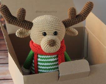 REINDEER amigurumi PATTERN christmas amigurumi pattern reindeer crochet pattern amigurumi xmas amigurumi pattern xmas tutorial pdf pattern