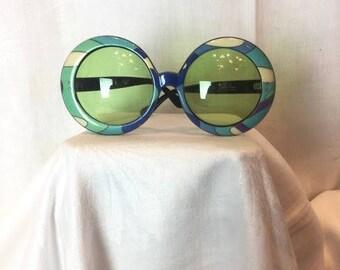 331. PUCCI- Green Round Sunglasses