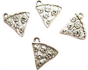 10 charms pendants Pizza Charm 20 x 19 mm