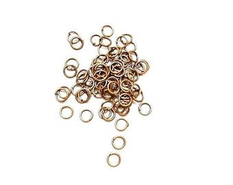 1200 Red 5mm open copper jump rings