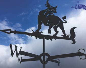 BULL Metal Plasmacut Wind Direction Roof Decor