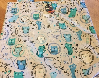 Cat Drawings Fabric on a Bag