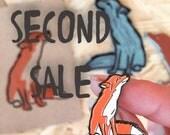 SECOND SALE | B-Grade enamel pin | fox pin | cute fox pin | accessories | foxy stuff | brooch