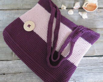 Crochet bag Beach accessory Shoulder bag handle Purse women Market bag Beach handbag Summer bag Shopping tote Everyday bag Women's bag tote