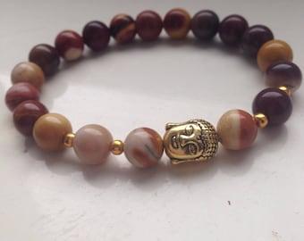 Buddha beaded gemstone bracelet