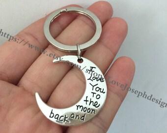 moon keychain,moon gifts key ring