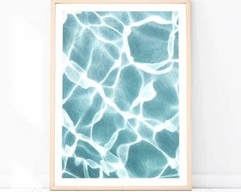 Water, Turquoise Water Print, Water Photography, Blue Water Print, Water Art, Summer Decor, Water Poster, Water Printable Wall Art, Water