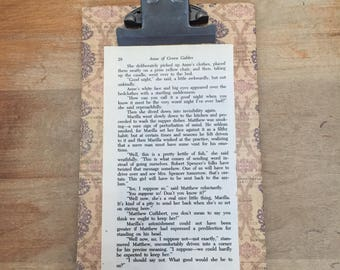 Clipboard with Anne of Green Gables pg 28