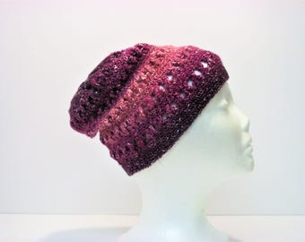 Scream if You Love Purple Criss-Cross Slouchy Womens Winter Hat (A12)