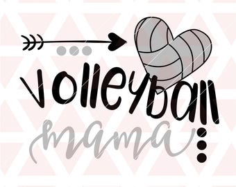 Volleyball Mama svg, eps, dxf, png, cricut, cameo, scan N cut, cut file, Volleyball mom svg, Volleyball player svg, Volleyball svg