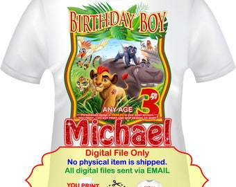 Lion Guard Iron On, Lion Guard Birthday, The Lion Guard, Lion Guard Transfer, Birthday Boy, Lion Guard Shirt, Decal Lion Guard - LIONGUARD