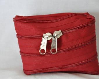 Keychain with key zipper fully zipped
