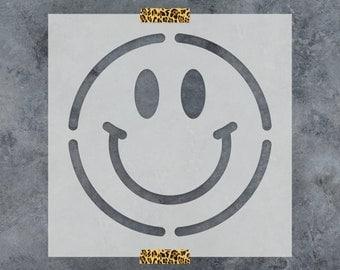 Smiley Face Stencil - Reusable DIY Craft Stencils of a Smiley Face