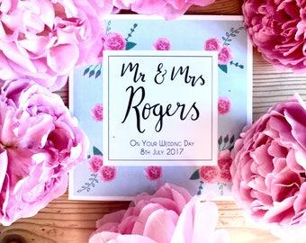 Personalised Floral Wedding Card