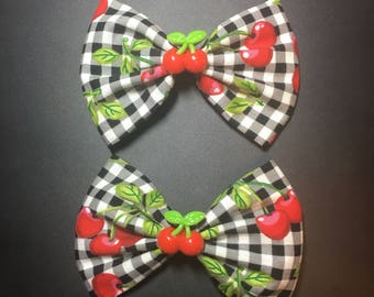 Pinup picnic cherry bow