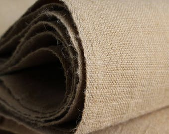 French Linen Canvas Fabric Vintage Cotton A Beautiful Fabric New with Lovely Aged Marks Upholstery Weight 1.1m x 2m