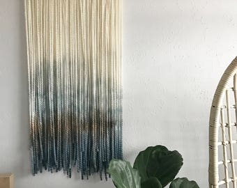 Dip Dyed Wall Hanging: Barrier Beach