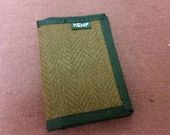 Keyfold Wallet (Cocoa Brown Herringbone Hemp Canvas)
