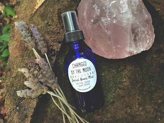 Sacred Heart Organic Essential Oil Hydrating Mist, Soothing + Uplifting