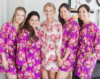 READY To SHIP Bridesmaid Robes, Set of Bridesmaid Robes, Bridesmaid Gift , Kimono, Wedding Robes***DISCOUNT for Multi Orders